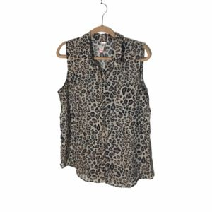No Boundaries Sleeveless Leopard Blouse XXL EUC